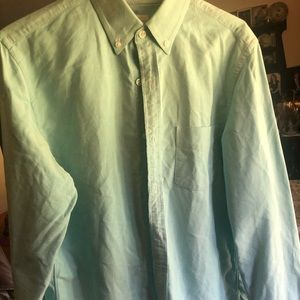 J crew long sleeve button up sea foam green